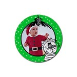 Green Christmas- Rubber coaster - Rubber Coaster (Round)