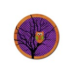 halloween coaster3 - Rubber Coaster (Round)