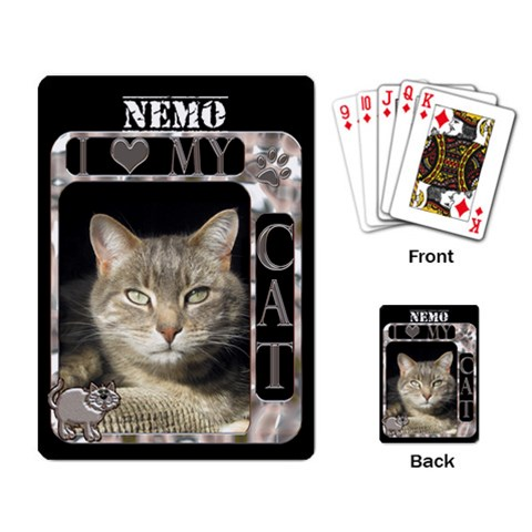 I Love My Cat Playing Cards By Lil    Playing Cards Single Design   Kcd7cxc1la6a   Www Artscow Com Back