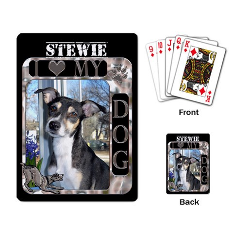 I Love My Dog Playing Cards By Lil    Playing Cards Single Design   Oytgvghzov0j   Www Artscow Com Back
