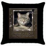Cat Pillow #2 - Throw Pillow Case (Black)