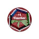 Round coaster- #1 Teacher - Rubber Coaster (Round)