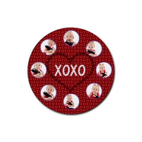 Valentine Coaster Template By Danielle Christiansen   Rubber Round Coaster (4 Pack)   1rk6mjealu93   Www Artscow Com Front