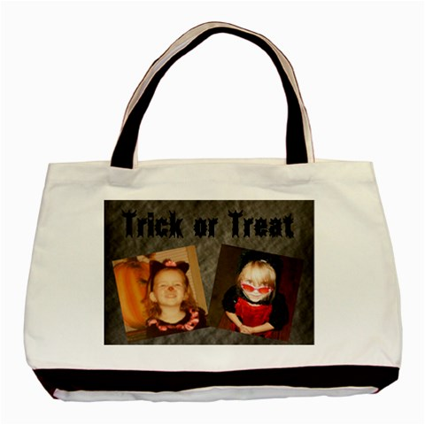 Trick Or Treat Bag By Amanda Bunn   Basic Tote Bag   4a1jd25tb5sf   Www Artscow Com Front
