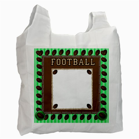 Football Bag By Danielle Christiansen   Recycle Bag (one Side)   Agwg3b9v554r   Www Artscow Com Front