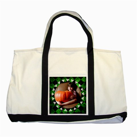 Halloween   Tote Bag By Carmensita   Two Tone Tote Bag   3sja2nyh8bom   Www Artscow Com Front