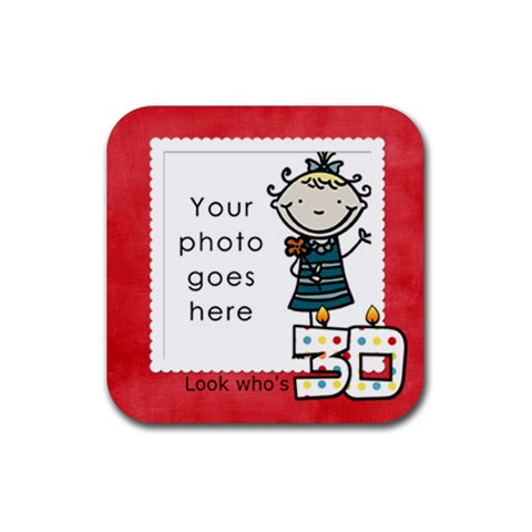 Look Who s 30 Coaster By Albums To Remember   Rubber Square Coaster (4 Pack)   Cl8spxhh98fq   Www Artscow Com Front