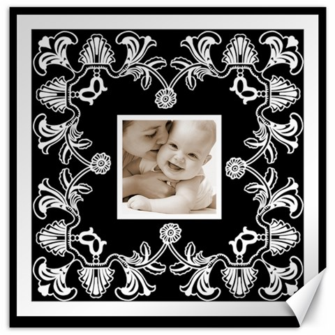 Art Nouveau Black & White 12 X 12 Canvas By Catvinnat   Canvas 12  X 12    Nijkawal0jul   Www Artscow Com 12 x12 Canvas - 1