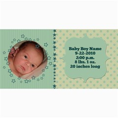Baby Boy Stars Birth Announcement By Klh   4  X 8  Photo Cards   D839ljeah9m7   Www Artscow Com 8 x4 Photo Card - 5
