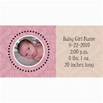 Baby Girl Pink Announcement - 4  x 8  Photo Cards