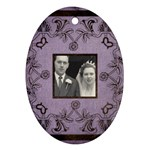 art nouveau lavendar oval ornament - Oval Ornament (Two Sides)