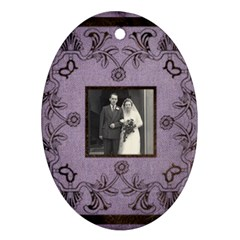 Art Nouveau Lavendar Oval Ornament By Catvinnat   Oval Ornament (two Sides)   Krbx47voe4x3   Www Artscow Com Back