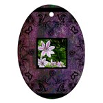 art nouveau deep purple oval ornament - Oval Ornament (Two Sides)