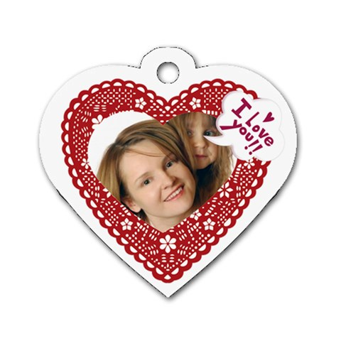 Heart Of Love By Wood Johnson   Dog Tag Heart (one Side)   8y8o9f7iyd19   Www Artscow Com Front