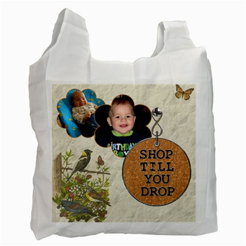Shop Till You Drop Recycle Bag By Lil    Recycle Bag (one Side)   G55uagligj0r   Www Artscow Com Front
