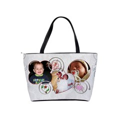 Grandma s Angels Hand Bag By Lil    Classic Shoulder Handbag   Ear2lgswhh9f   Www Artscow Com Back