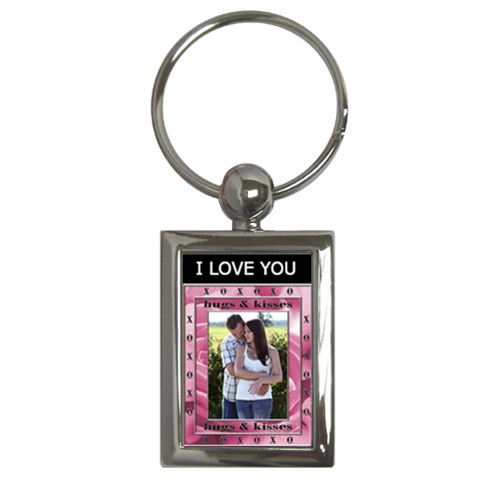 I Love You Key Chain By Lil    Key Chain (rectangle)   Nu7k6zbfpere   Www Artscow Com Front