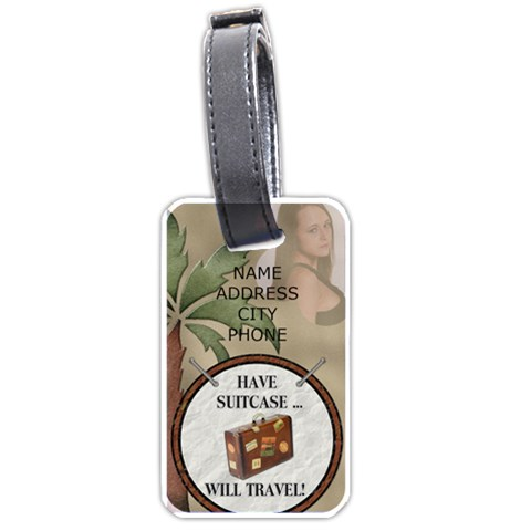 Tropical Travel Luggage Tag By Lil    Luggage Tag (one Side)   Oiryzhw16xmk   Www Artscow Com Front