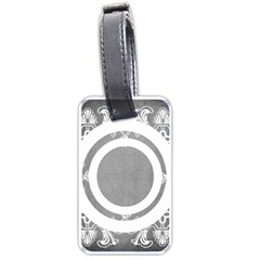 Grey Lace Luggage Tag By Catvinnat   Luggage Tag (two Sides)   Fufk9zj4dr8s   Www Artscow Com Front