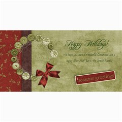 4x8 Horizontal Holiday Wreath Card By Mikki   4  X 8  Photo Cards   87dxgq0cp1pg   Www Artscow Com 8 x4 Photo Card - 2