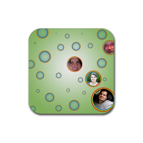 Coaster We 2 By Galya   Rubber Coaster (square)   G3indwa4mqbn   Www Artscow Com Front