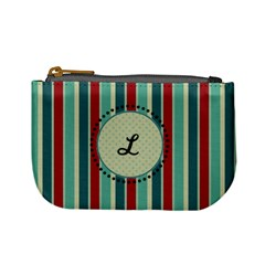 Red & Blue Stripes Monogram Mini Coin Purse By Klh   Mini Coin Purse   Orkhspour8ru   Www Artscow Com Front