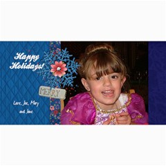 Holiday 4x8 Card Merry Snowflake Verticle By Mikki   4  X 8  Photo Cards   Hfpge20xby75   Www Artscow Com 8 x4 Photo Card - 4
