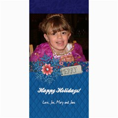 4x8 Verticle Merry Snowflake Photo Card By Mikki   4  X 8  Photo Cards   Q7tl5y3bqaof   Www Artscow Com 8 x4 Photo Card - 1