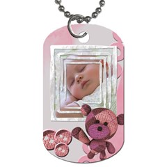 Baby Pink   Tag By Carmensita   Dog Tag (two Sides)   21kwyaevag1l   Www Artscow Com Front