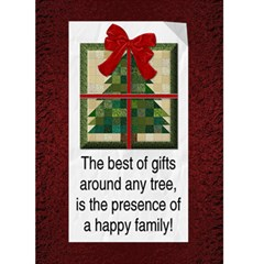 Happy Family Christmas Card By Lil    Greeting Card 5  X 7    Tjwiwe4ovu72   Www Artscow Com Front Cover