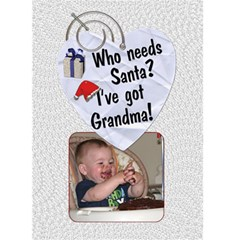 Grandma Christmas Card By Lil    Greeting Card 5  X 7    Frpg6l5g3vsd   Www Artscow Com Front Cover