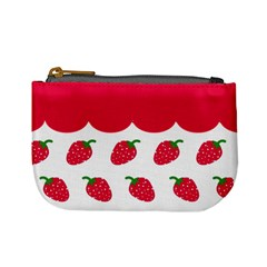 Strawberries 02 By Carol   Mini Coin Purse   0fqyewmajvtg   Www Artscow Com Front