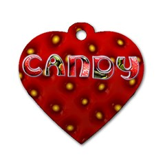 Candy   Tag By Carmensita   Dog Tag Heart (two Sides)   Gplax25fkp6f   Www Artscow Com Front