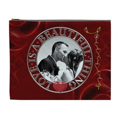 Love Is A Beautiful Thing Xl Cosmetic Bag By Lil    Cosmetic Bag (xl)   Te8hz3b334pr   Www Artscow Com Front