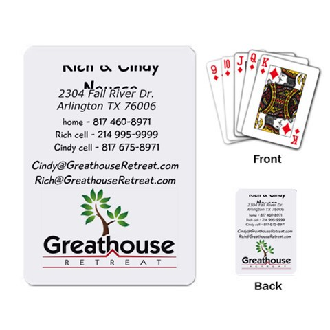 Greathouse Business Cards By Cindy   Playing Cards Single Design   Ui4nne056e7v   Www Artscow Com Back