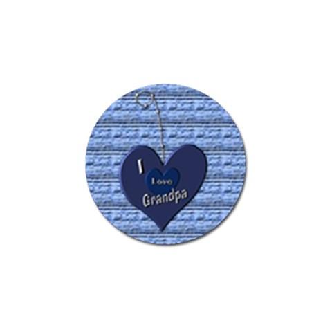 I Love Grandpa Golf Pivet By Danielle Christiansen   Golf Ball Marker   6lyplu2pr9gl   Www Artscow Com Front