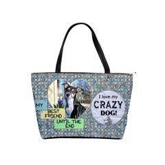 Dog Best Friend Shoulder Bag By Lil    Classic Shoulder Handbag   Lo8zkxm7n9gv   Www Artscow Com Front