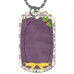 Holiday Rush Holly Dog Tag - Dog Tag (One Side)