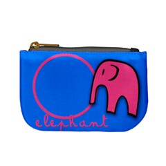 Elephant & Pig   Mini Coin Purse By Carmensita   Mini Coin Purse   R84gnf663y27   Www Artscow Com Front
