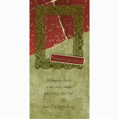 Seaons Greetings  Verticle By Mikki   4  X 8  Photo Cards   6qqbfnw1gpr9   Www Artscow Com 8 x4 Photo Card - 1