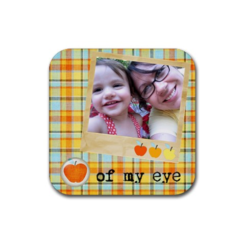 Apple Of My Eye Coaster By Ashley   Rubber Coaster (square)   Kct8d7b8mt01   Www Artscow Com Front