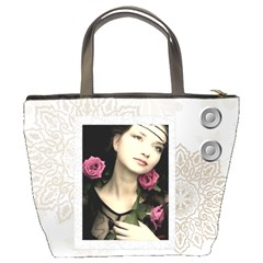 Flower Pattern By Joely   Bucket Bag   Qj52iok0km09   Www Artscow Com Back
