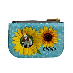 Sunflower Mini Coin Purse By Mikki   Mini Coin Purse   Rqe23n00mc4i   Www Artscow Com Back