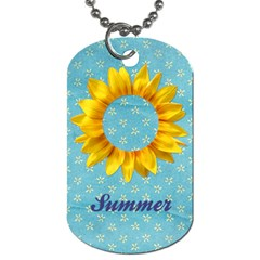 Sunflower Dog Tag By Mikki   Dog Tag (two Sides)   Bg7d5mwflc34   Www Artscow Com Front