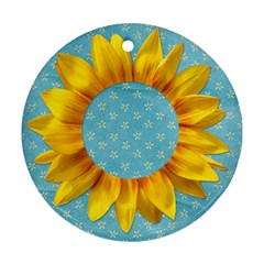 Sunflower Round Ornament By Mikki   Round Ornament (two Sides)   Eb5r9r4075pu   Www Artscow Com Front