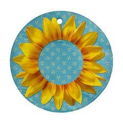 Sunflower Round Ornament By Mikki   Round Ornament (two Sides)   Eb5r9r4075pu   Www Artscow Com Back