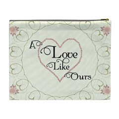 A Love Like Ours Xl Cosmetic Bag By Lil    Cosmetic Bag (xl)   Uy6q404beom8   Www Artscow Com Back