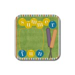 Tutti-Frutti Summer Rubber Coaster - Rubber Coaster (Square)