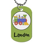 Train Dog Tag - Dog Tag (Two Sides)
