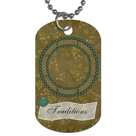Modern Heritage Traditions Dog Tag By Bitsoscrap   Dog Tag (one Side)   7bhdx8bn5h20   Www Artscow Com Front